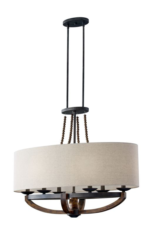 Feiss F2751/6 Adan 6 Light Single Tier Chandelier Rustic Iron /