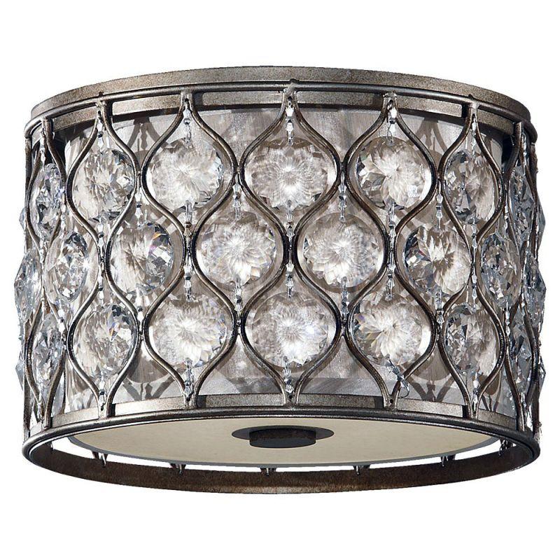 Feiss FM355-F Lucia 2 Light Flush Mount Ceiling Fixture Burnished Sale $429.00 ITEM#: 3007527 MODEL# :FM355BUS-F :