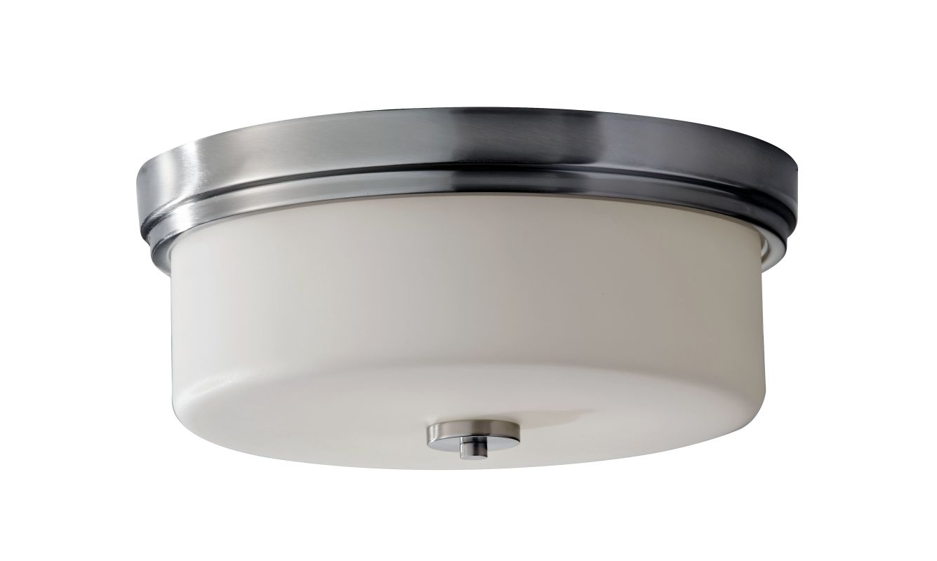 Feiss FM371 Kincaid 3 Light Flush Mount Ceiling Fixture Brushed Steel