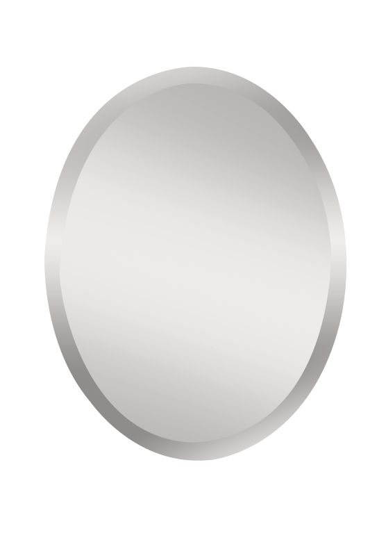 "Feiss MR1151 Infinity 28"" Height x 22"" Width Oval Mirror Clear Home"