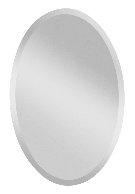 "Feiss MR1153 Infinity 36"" Height x 24"" Width Oval Mirror Clear Home"