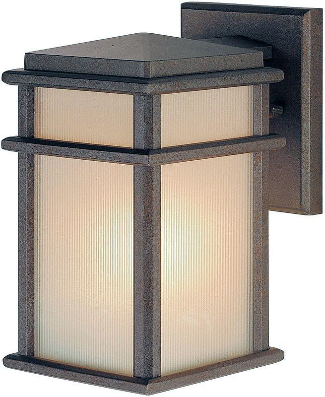 Feiss OL3400 Craftsman / Mission 1 Light Outdoor Wall Sconce from the