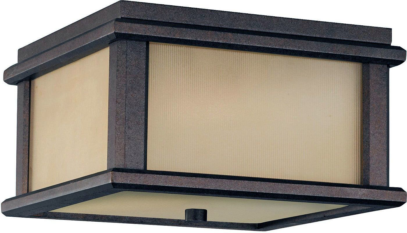 Feiss OL3413 Craftsman / Mission 2 Light Outdoor Ceiling Fixture from