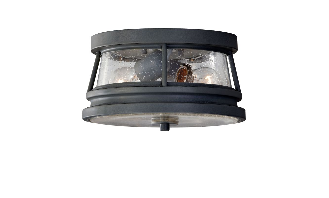 "Feiss OL8113 Chelsea Harbor 11"" 2 Light Outdoor Flushmount Fixture"