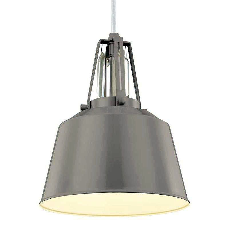 Feiss P1305 Freemont 1 Light Mini Pendant Hi Gloss Grey Indoor