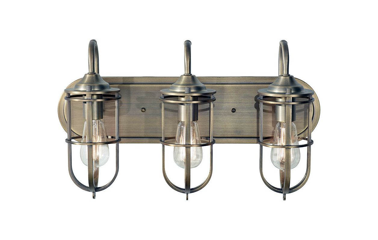 Feiss VS36003 Urban Renewal 3 Light Bathroom Vanity Light Dark Antique Sale $267.75 ITEM#: 3008505 MODEL# :VS36003-DAB :