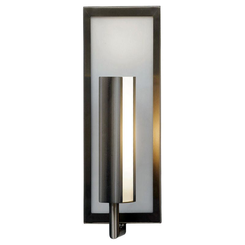 Feiss WB1451 Mila 1 Light Reversible ADA Wall Sconce Brushed Steel