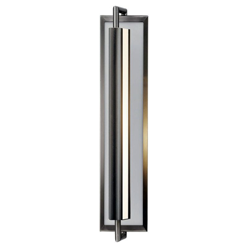 Feiss WB1452 Mila 2 Light Reversible Wall Sconce Brushed Steel Indoor