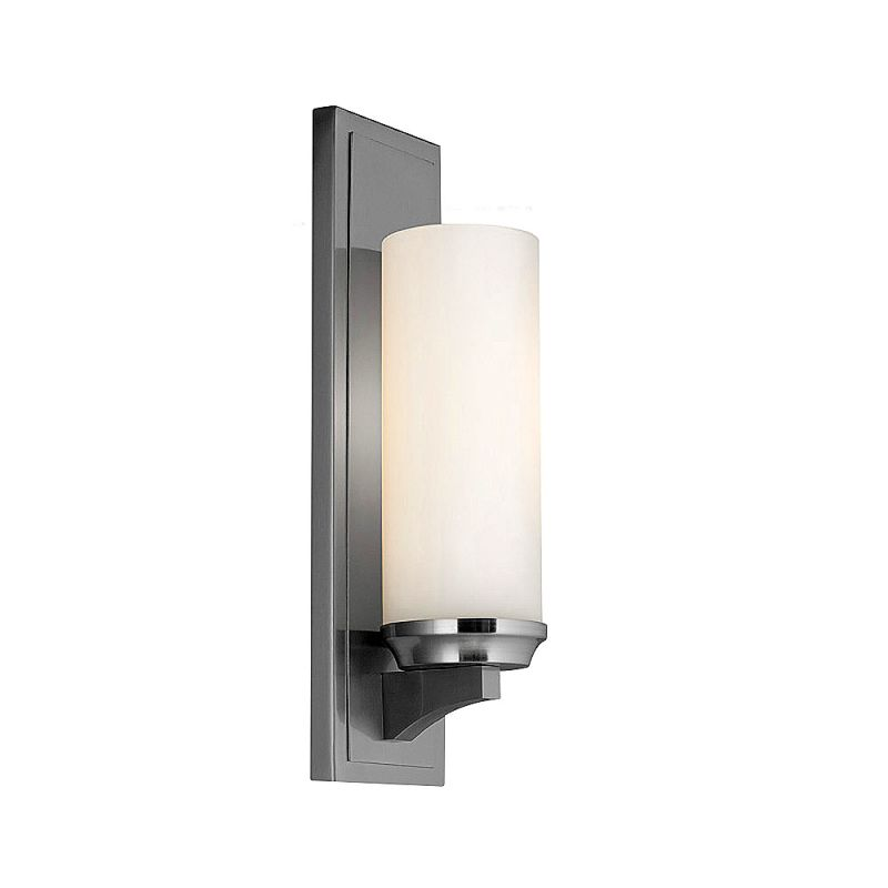 Feiss WB1723 Amalia 1 Light Reversible Wall Sconce Brushed Steel