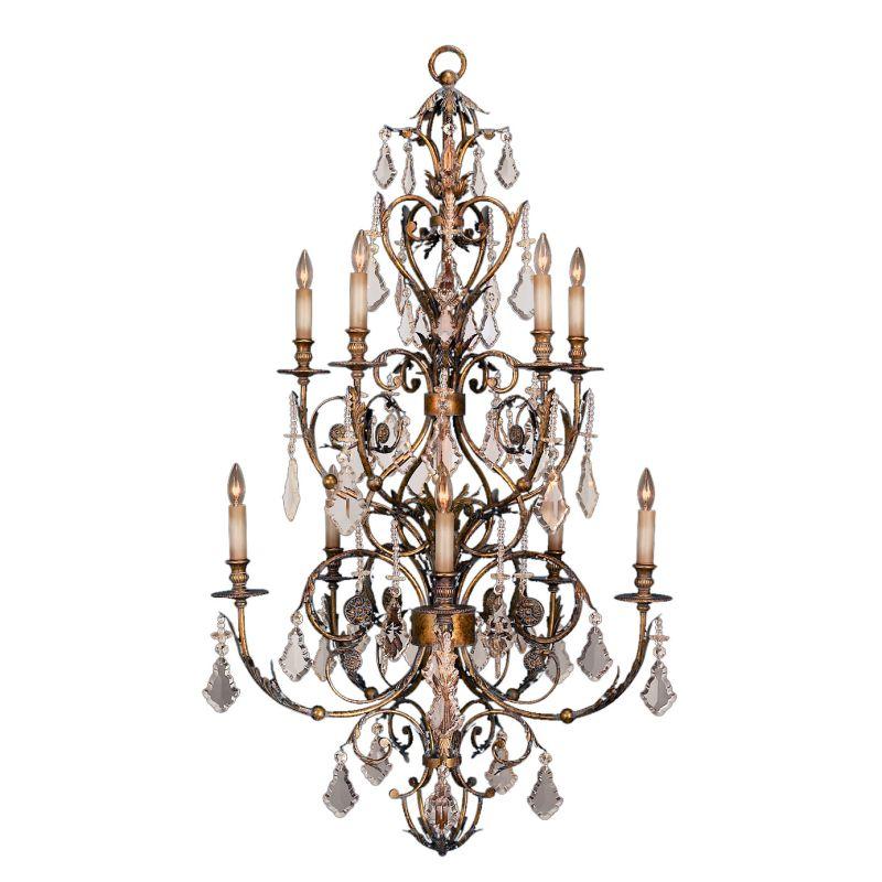 Fine Art Lamps 180940ST Verona Ten-Light Two-Tier Chandelier with