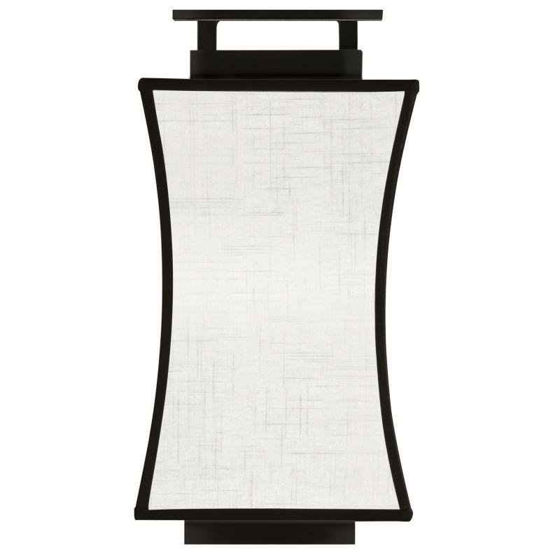 Fine Art Lamps 232850-6ST Black+White Story Single-Light Wall Sconce