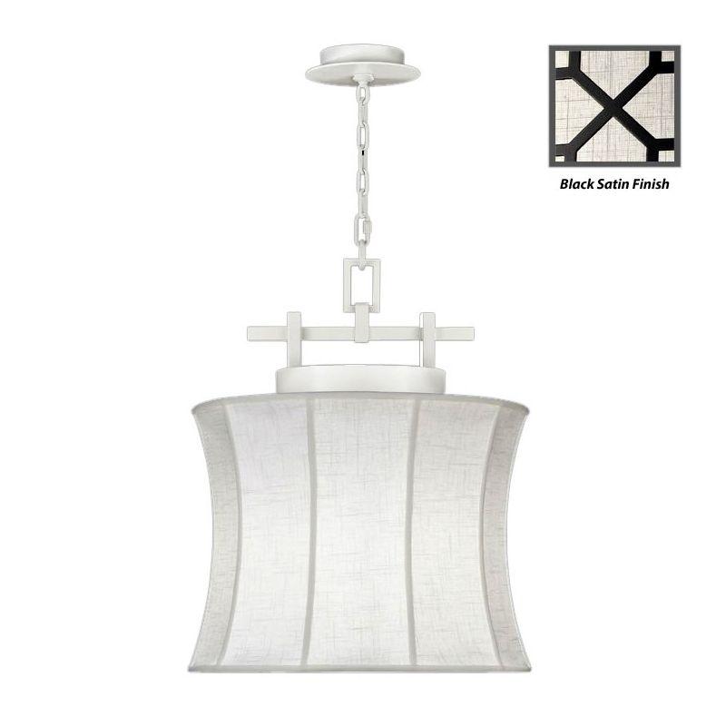 """Fine Art Lamps 233449-6ST Black+White Story 19"""" Diameter Single-Light"""
