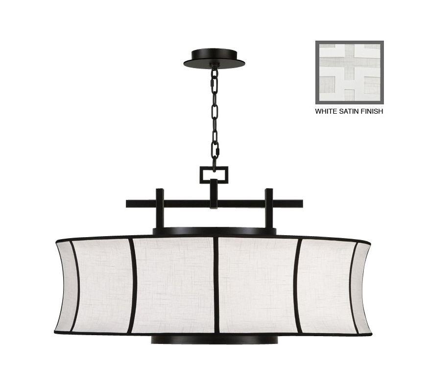 """Fine Art Lamps 233540-5ST Black+White Story 32"""" Diameter Three-Light"""