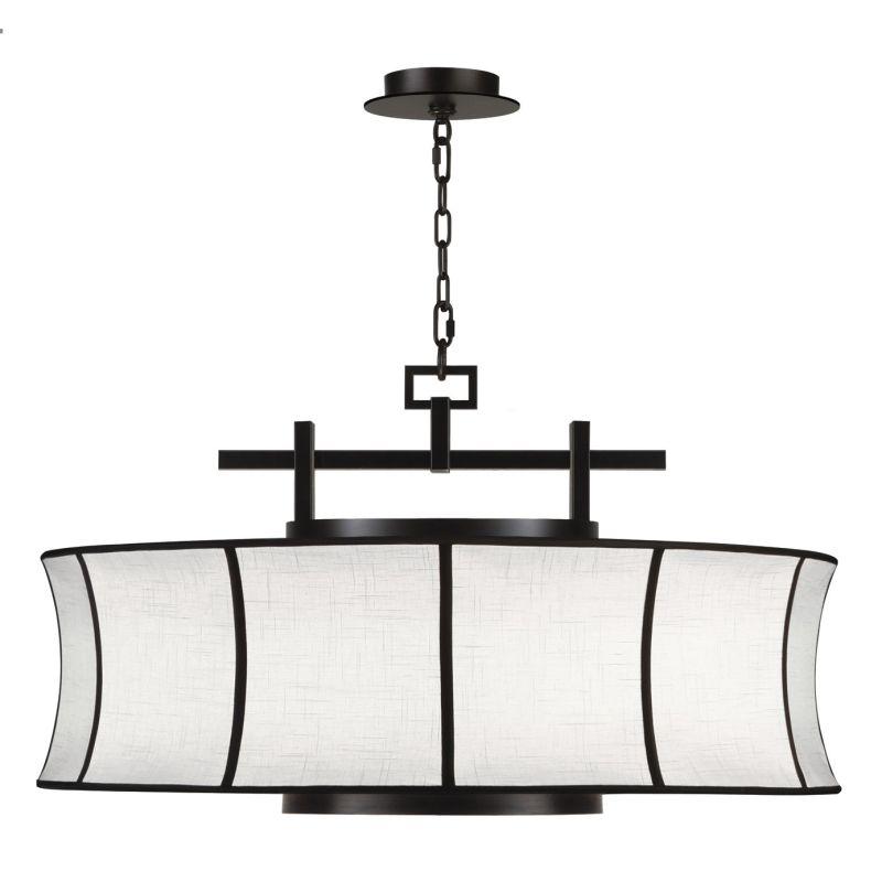"""Fine Art Lamps 233540-6ST Black+White Story 32"""" Diameter Three-Light"""