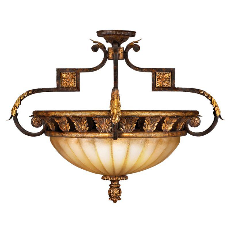 """Fine Art Lamps 234645ST Castile 27"""" Diameter Three-Light Semi-Flush"""