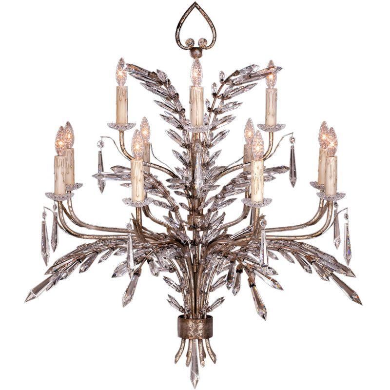 Fine Art Lamps 300840ST Winter Palace Twelve-Light Two-Tier Chandelier