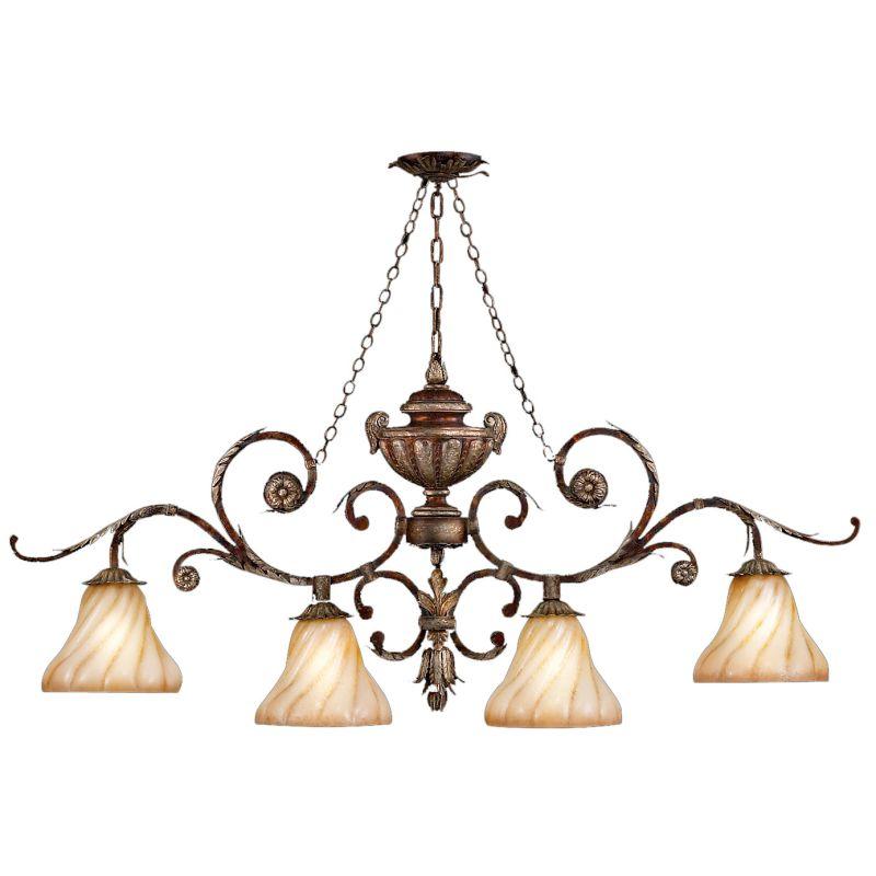 Fine Art Lamps 302240ST Stile Bellagio Four-Light Single-Tier Linear