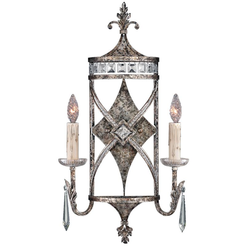 Fine Art Lamps 323550ST Winter Palace Two-Light Wall Sconce with