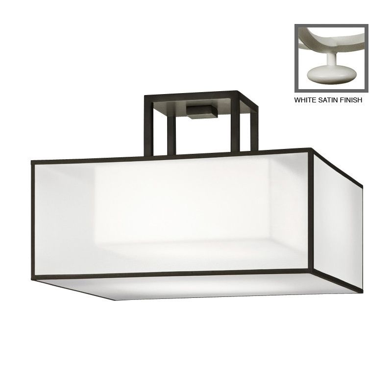 """Fine Art Lamps 330740-5ST Black+White Story 17"""" Diameter Two-Light"""