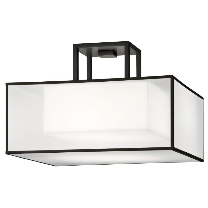 """Fine Art Lamps 330740-6ST Black+White Story 17"""" Diameter Two-Light"""