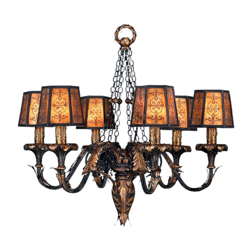 "Fine Art Lamps 404840ST Epicurean 29"" Diameter Six-Light Chandelier"