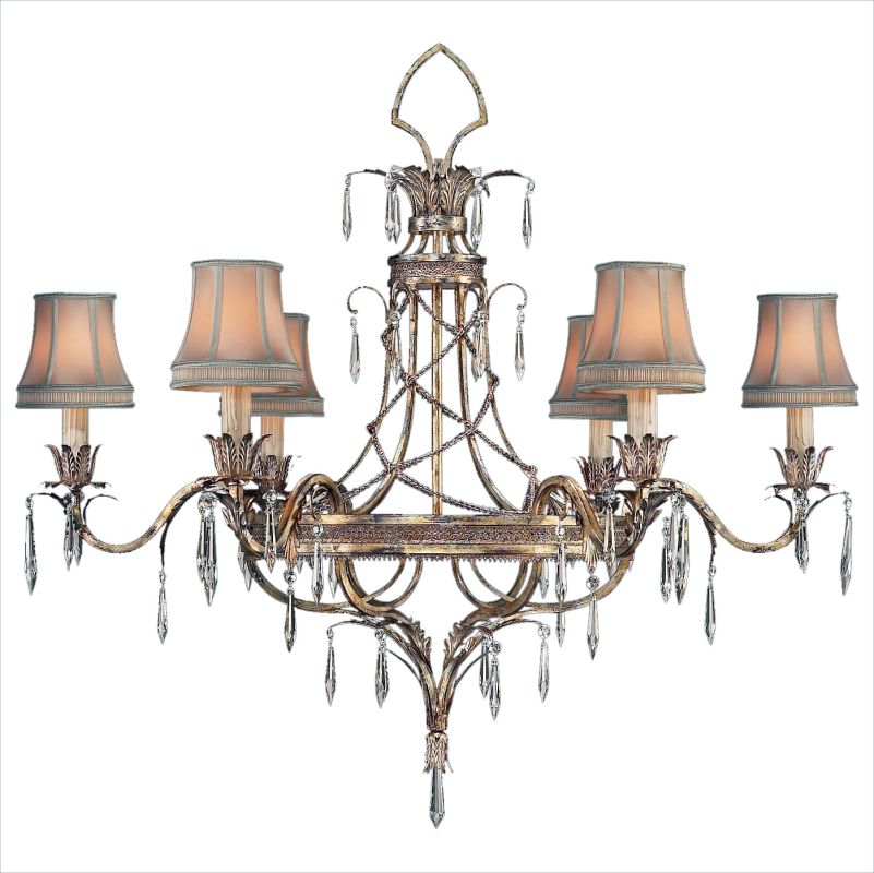 Fine Art Lamps 407040ST Pastiche Six-Light Single-Tier Chandelier with