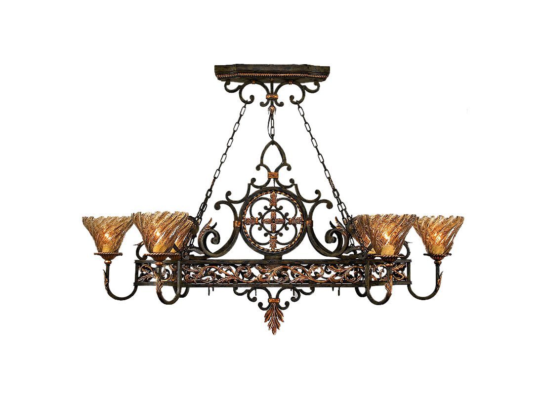 Fine Art Lamps 407640ST Epicurean Six-Light Single-Tier Chandelier