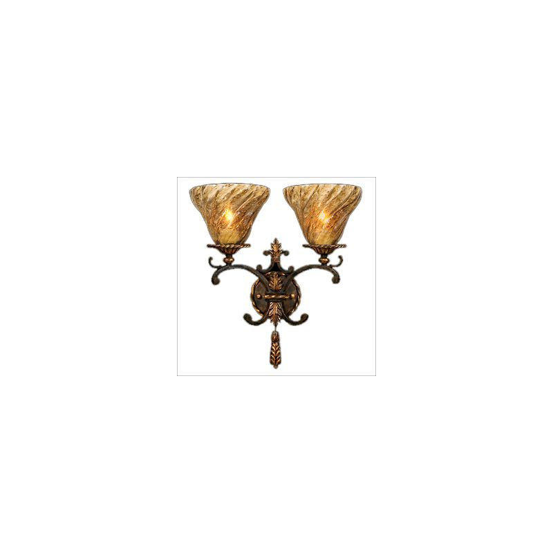 Fine Art Lamps 407850ST Epicurean Two-Light Wall Sconce with