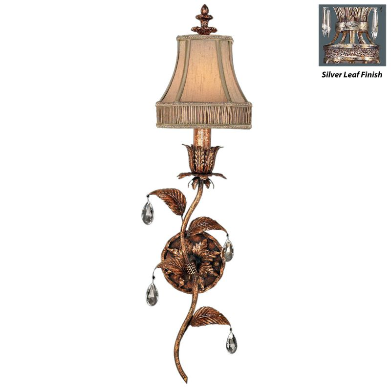 Fine Art Lamps 408050ST Pastiche Single-Light Wall Sconce with