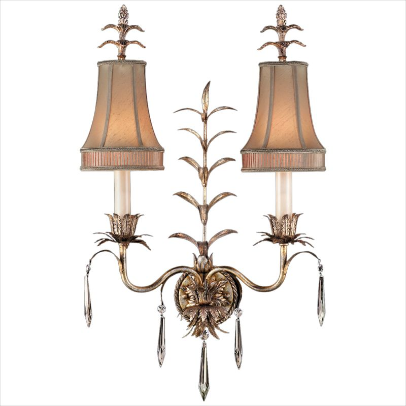 Fine Art Lamps 409050ST Pastiche Two-Light Wall Sconce with Delicate