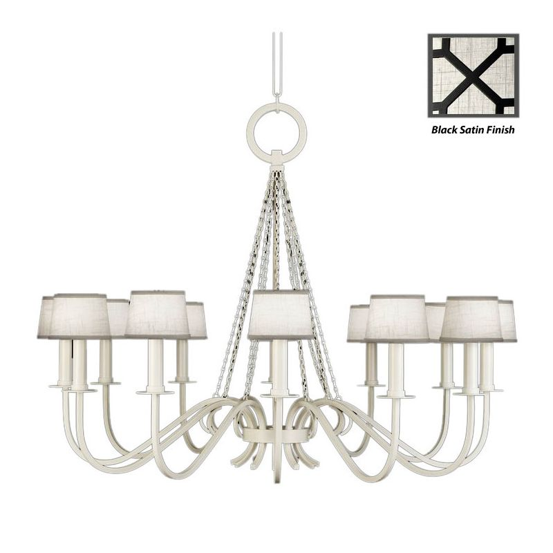 Fine Art Lamps 420840-6ST Black+White Story Twelve-Light Single-Tier Sale $4788.00 ITEM#: 2258141 MODEL# :420840-6ST :