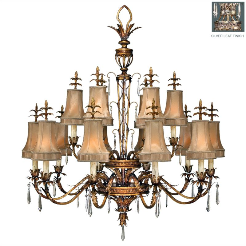 Fine Art Lamps 428040ST Pastiche Sixteen-Light Two-Tier Chandelier