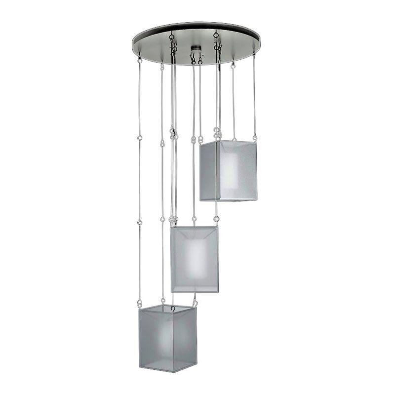 """Fine Art Lamps 435740-2ST Quadralli Silver 31"""" Diameter Three-Light"""