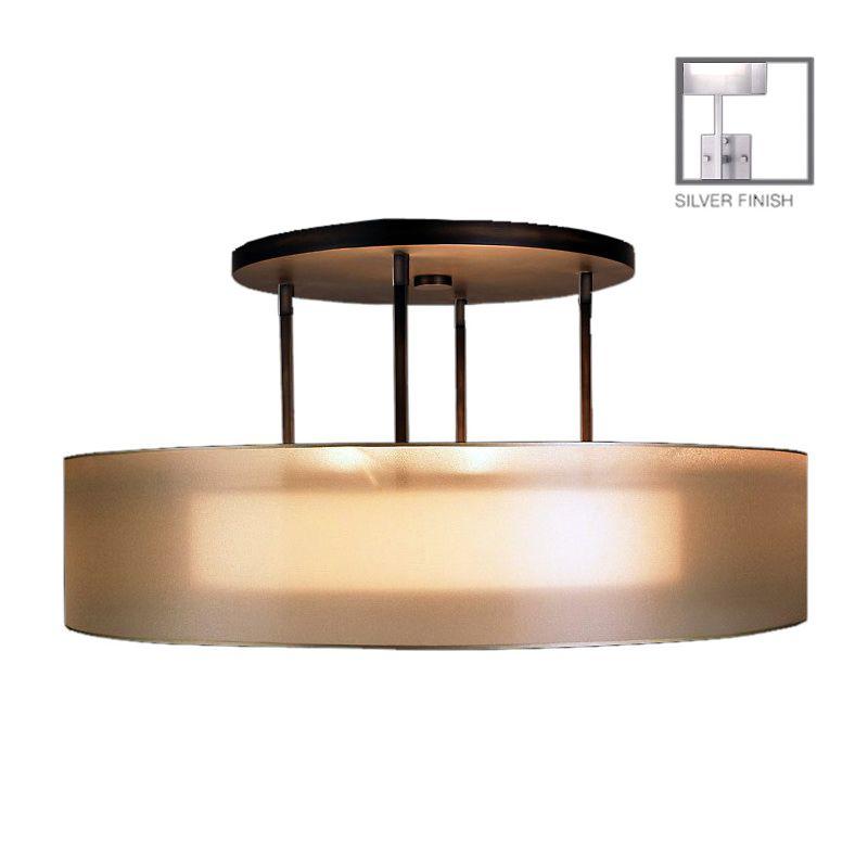"""Fine Art Lamps 435940-2ST Quadralli Silver 48"""" Diameter Three-Light"""