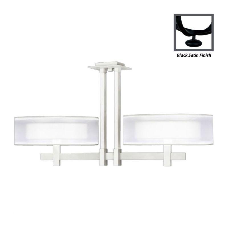 Fine Art Lamps 436240-6ST Black+White Story Six-Light Linear