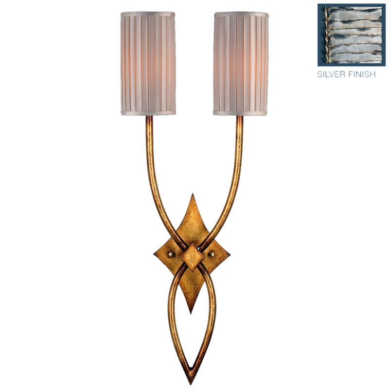 Fine Art Lamps 437450ST Portobello Road Two-Light Wall Sconce with