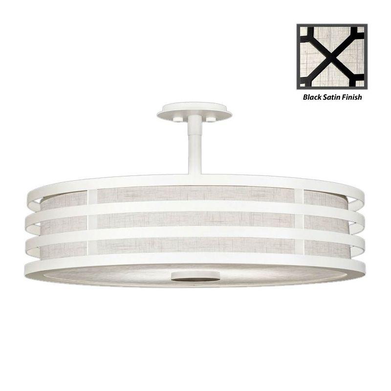 """Fine Art Lamps 445840-6ST Black+White Story 34"""" Diameter Three-Light"""