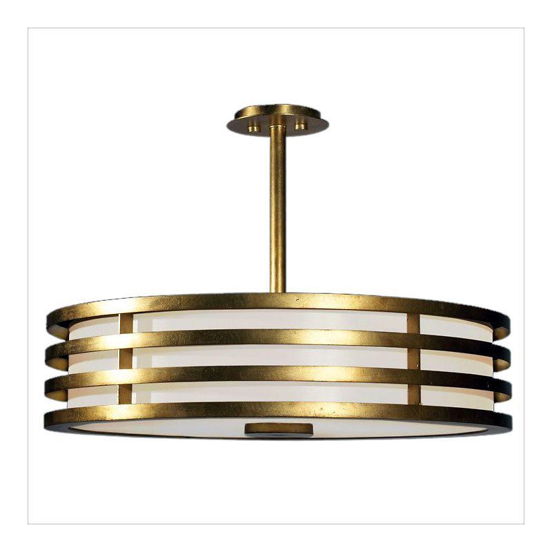 """Fine Art Lamps 445840ST Portobello Road 34"""" Diameter Three-Light Drum"""