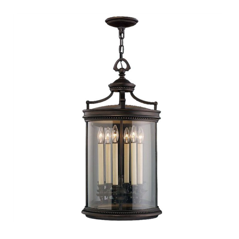 Fine Art Lamps 538182ST Louvre Six-Light Outdoor Pendant with Antiqued