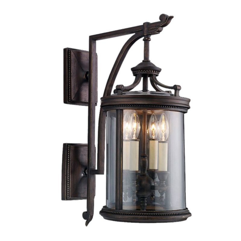 Fine Art Lamps 538581ST Louvre Four-Light Outdoor Wall Sconce with