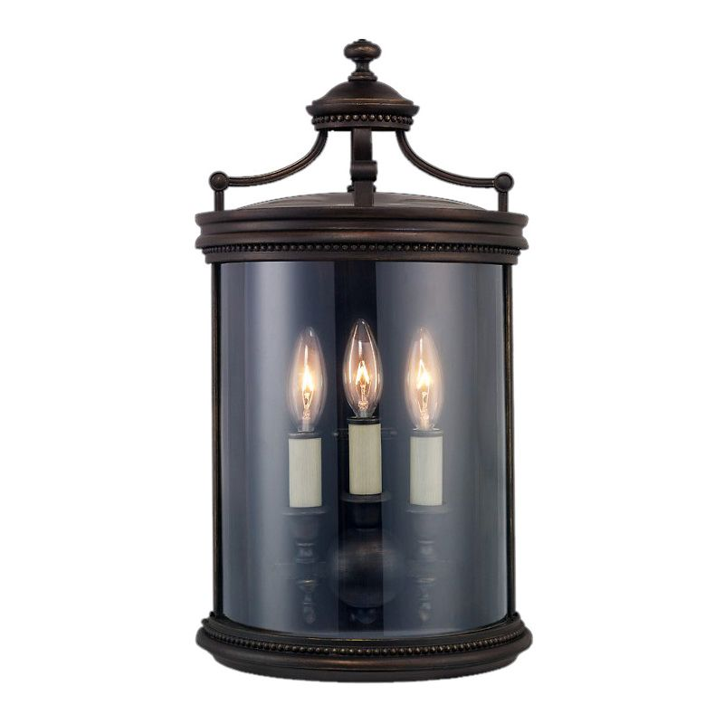 Fine Art Lamps 539081ST Louvre Three-Light Outdoor Wall Sconce with
