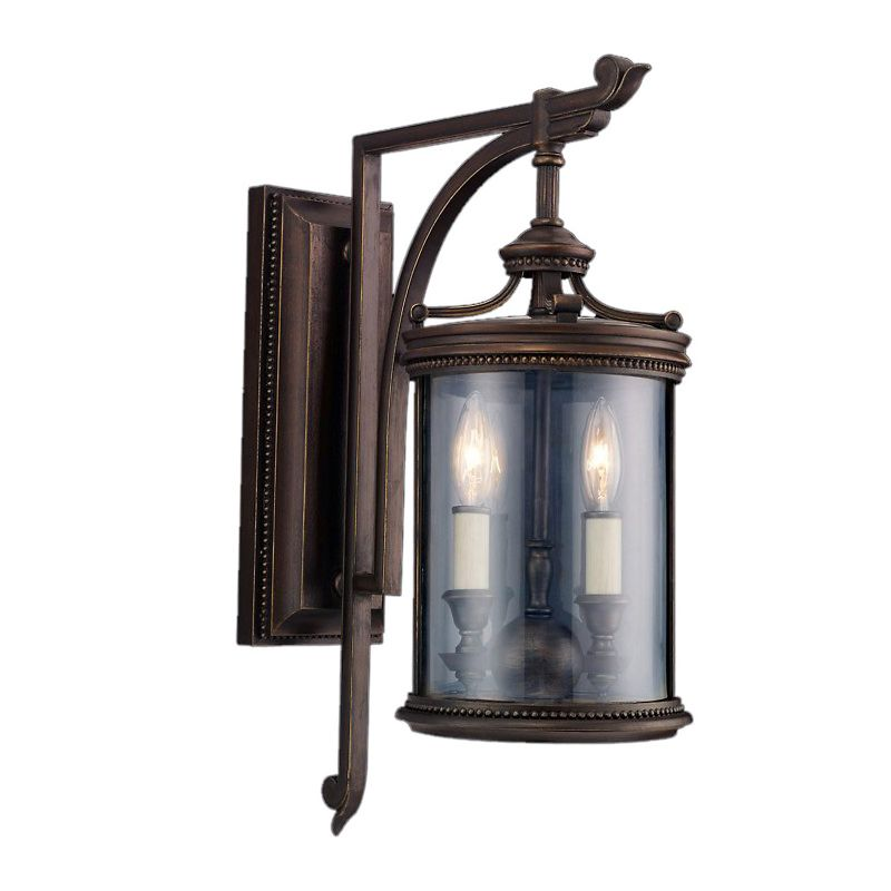 Fine Art Lamps 542281ST Louvre Two-Light Outdoor Wall Sconce with
