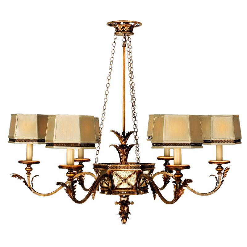 Fine Art Lamps 547940ST Newport Six-Light Single-Tier Chandelier with