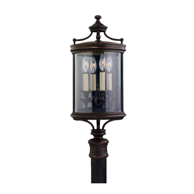 Fine Art Lamps 559483ST Louvre Four-Light Post Light with Antiqued