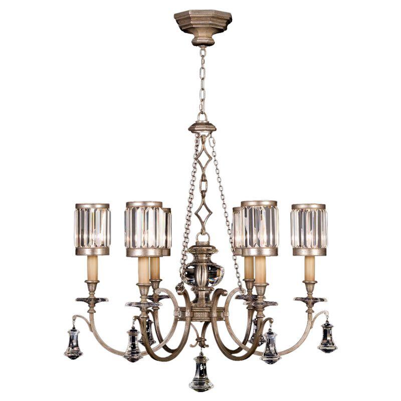 Fine Art Lamps 584240-2ST Eaton Place Silver Six-Light Single-Tier