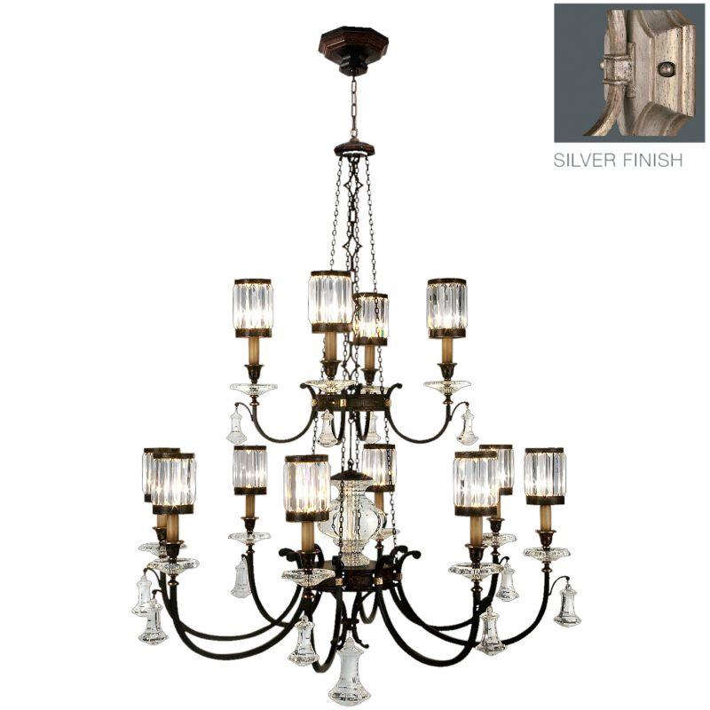 Fine Art Lamps 584740-2ST Eaton Place Silver Twelve-Light Two-Tier