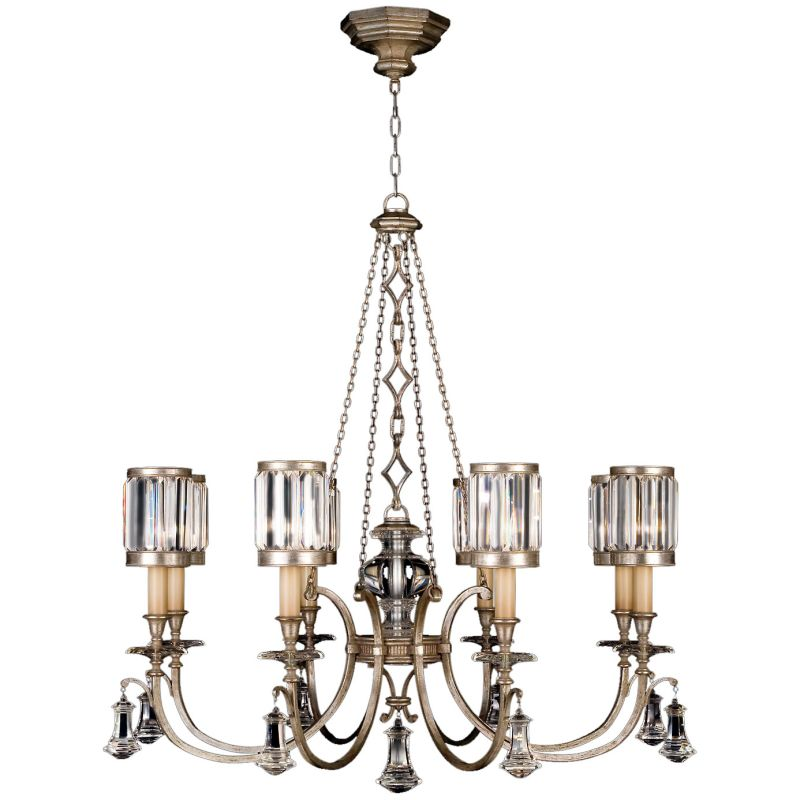Fine Art Lamps 585240-2ST Eaton Place Silver Eight-Light Single-Tier