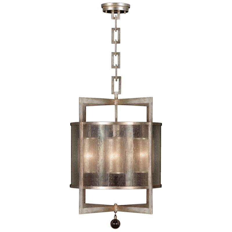"Fine Art Lamps 591140-2ST Singapore Moderne Silver 22"" Diameter"