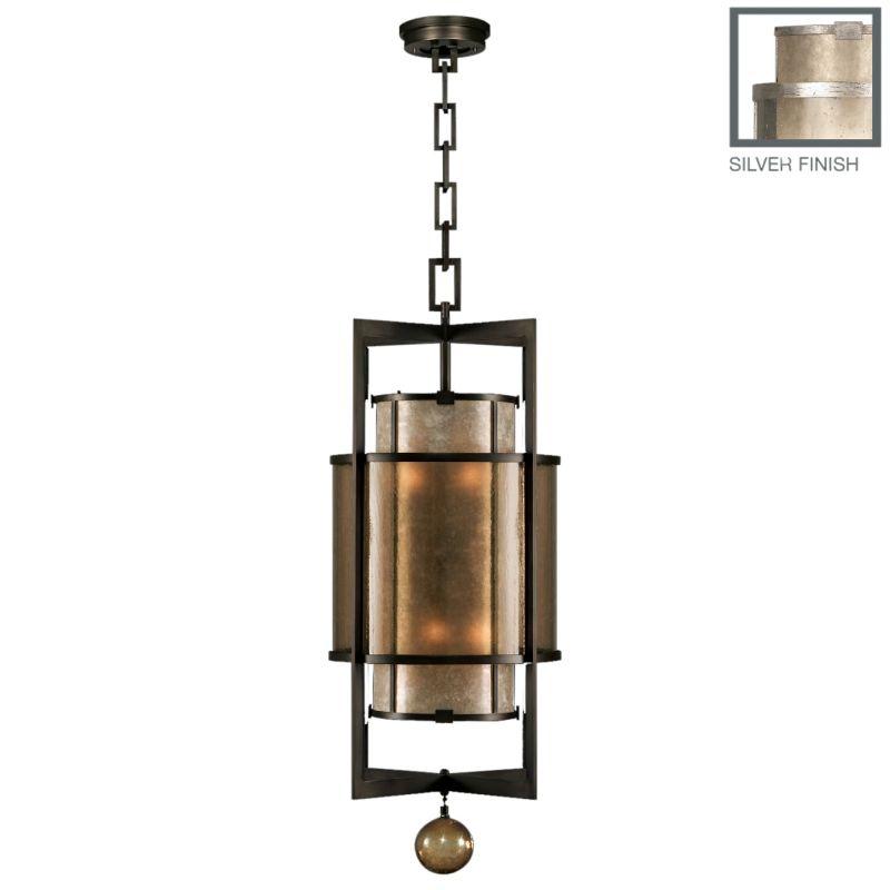 "Fine Art Lamps 591240-2ST Singapore Moderne Silver 18"" Diameter"