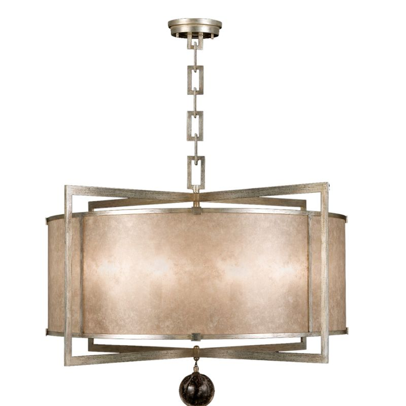 "Fine Art Lamps 591540-2ST Singapore Moderne Silver 40"" Diameter"